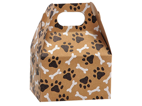 """Paws and Bones Mini Gable Boxes, 4x2.5x2.5"""", 6 Pack"""