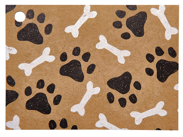 """Paws and Bones Theme Gift Cards 3.75x2.75"""", 6 Pack"""