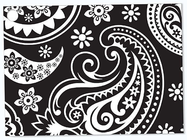 Paisley Flourish Black Theme Gift Card 3-3/4x2-3/4""