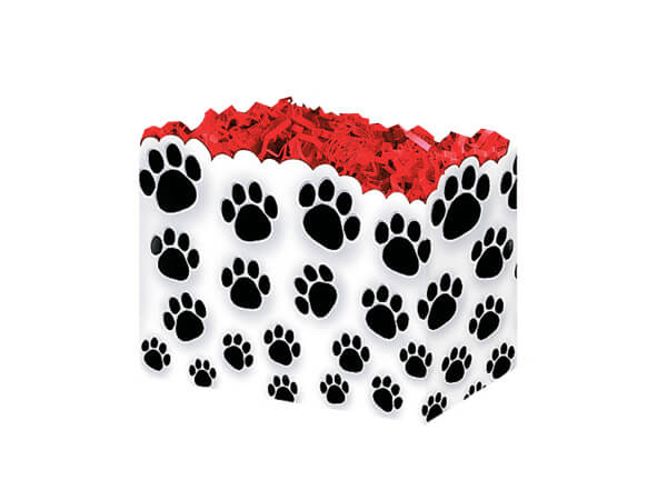 Small Paw Prints Basket Boxes 6-3/4x4x5""
