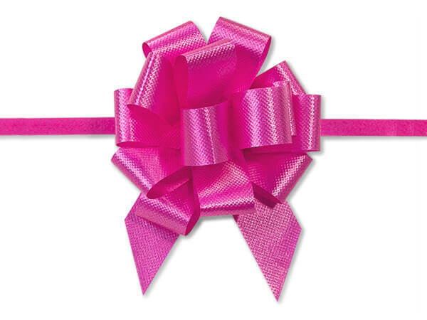 """2-1/2"""" Pink Beauty Flora Satin Pull Pull Bows, 10 pack"""