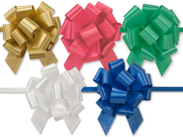 "2-1/2"" Christmas Pull Bow Assortment, 50 pack"