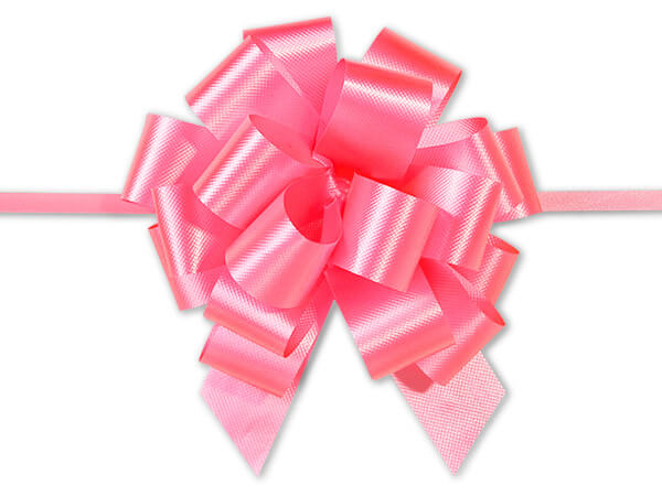 "4"" Pink Azalea Flora Satin Pull Bows, 10 pack"