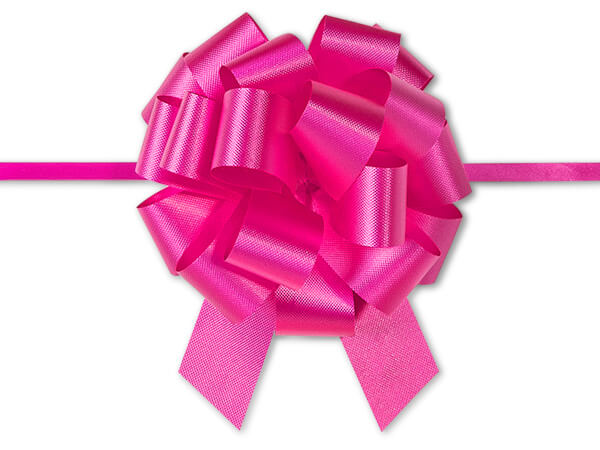 "4"" Pink Beauty Flora Satin Pull Bows, 10 pack"