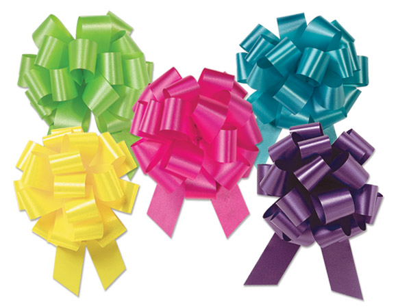 "4"" Fashion Pull Bow Assortment, 50 pack"
