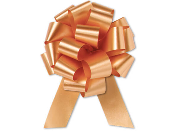 "4"" Gold Flora Satin Pull Bows, 10 pack"
