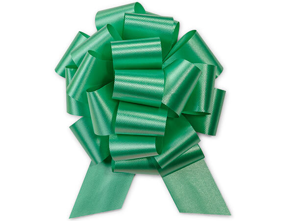 "5-1/2"" Emerald Green Flora Satin Pull Bows, 50 pack"