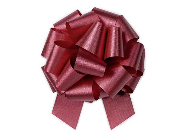 "5-1/2"" Marsala Maroon Flora Satin Pull Bows, 50 pack"