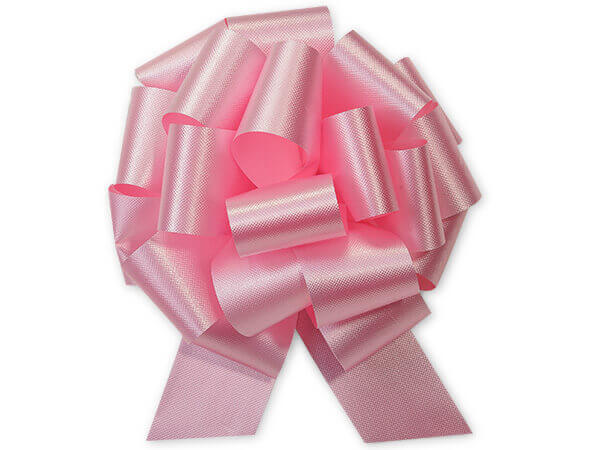 "5-1/2"" Baby Pink Flora Satin Pull Bows, 50 pack"