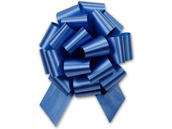 "5-1/2"" Royal Blue Flora Satin Pull Bows, 50 pack"