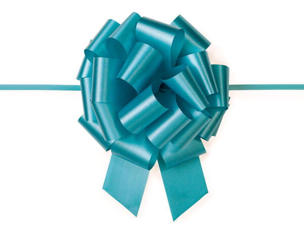 "5-1/2"" Turquoise Flora Satin Pull Bows, 50 pack"