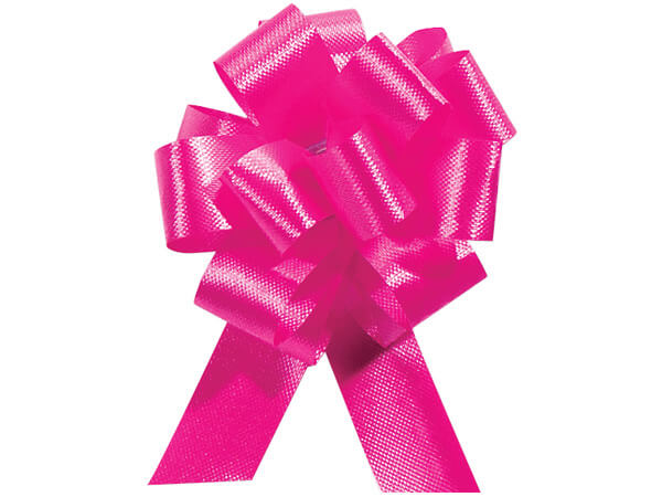 "8"" Pink Beauty Flora Satin Pull Bows, 10 pack"