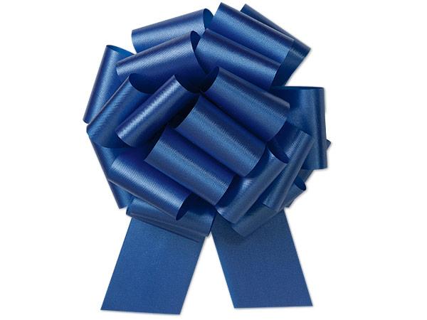 "8"" Royal Blue Flora Satin Pull Bows, 10 pack"