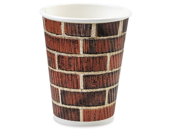 Brick 12 oz Groove Paper Cups Made In The USA