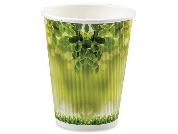 Morning Dew 12 oz Groove Paper Cups Made In The USA