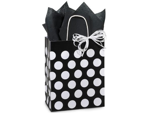 """Cub Black Polka Dots Recycled 250 Bags 8-1/4x4-3/4x10-1/2"""""""