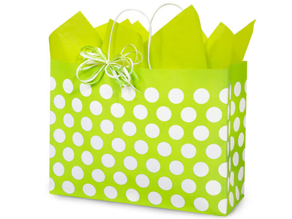 *Vogue Citrus Polka Dots Recycled 250 Bags 16x6x12-1/2""