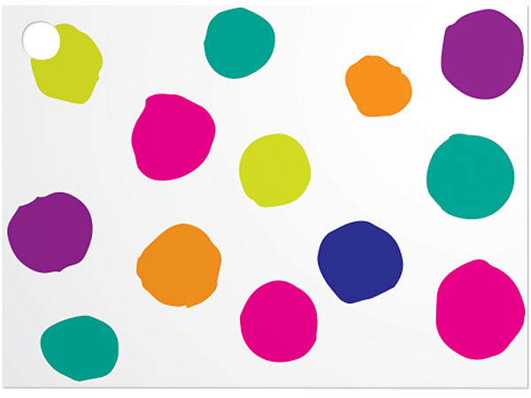 Painted Dots & Stripes Theme Card 3-3/4 x 2-3/4""