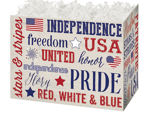 *Large Patriotic Expressions Basket Boxes 10-1/4 x 6 x 7-1/2""