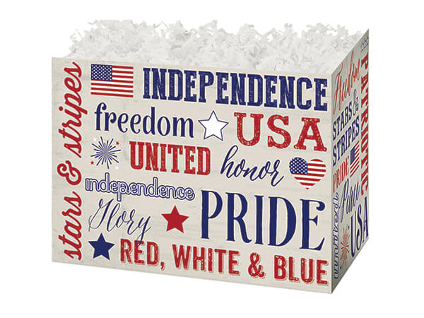 *Small Patriotic Expressions Basket Boxes 6-3/4 x 4 x 5""