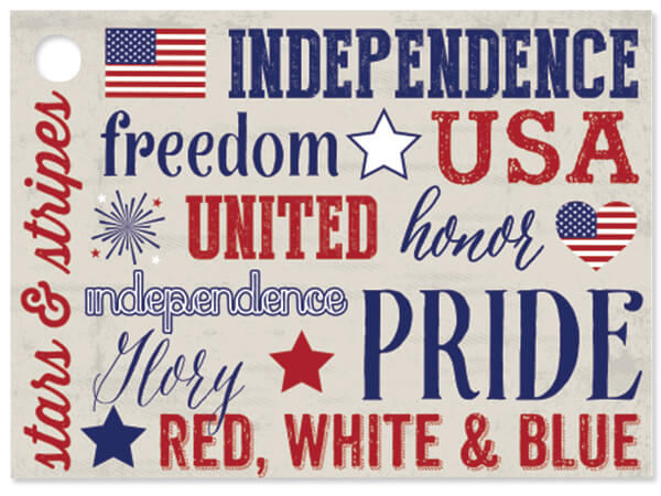 """*Patriotic Expressions Gift Cards 3-3/4x2-3/4"""""""