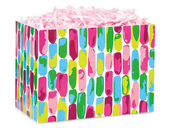 Painted Gems Basket Boxes