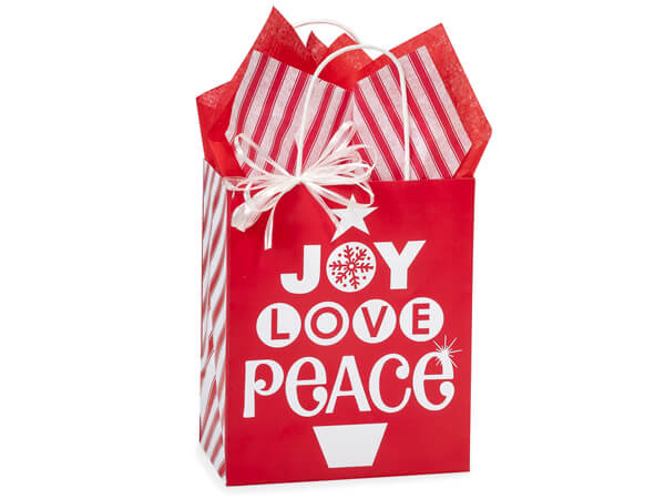 Cub Peppermint Holiday Paper Bags 250  8x4-3/4x10-1/4""