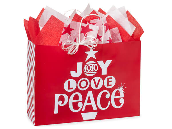 """Vogue Peppermint Holiday Paper Bags 250 16x6x12"""""""