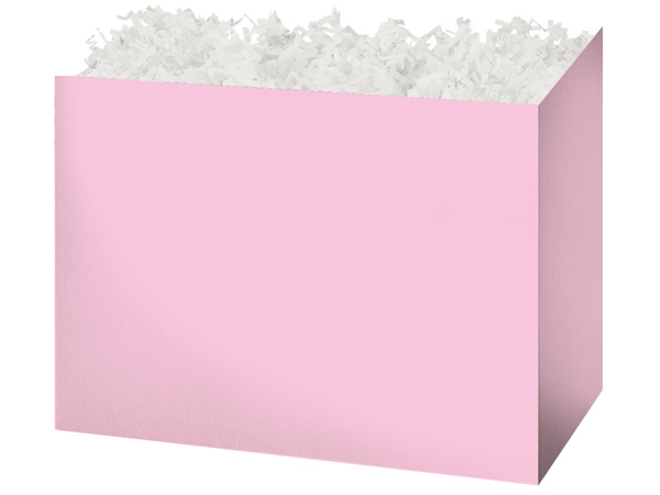 Large Solid Light Pink Basket Boxes 10-1/4x6x7-1/2""