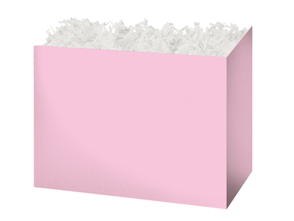 Medium Solid Light Pink Basket Boxes 8-1/4x4-3/4x6-1/4""