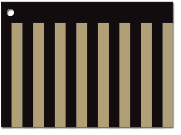 Pinstripe Theme Gift Cards 3-3/4x2-3/4""