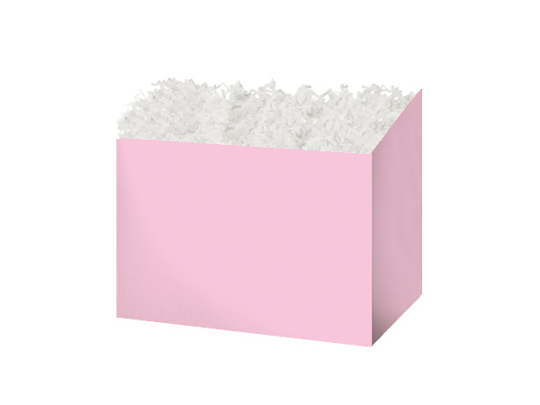 """Small Solid Light Pink Basket Boxes 6-3/4x4x5"""""""
