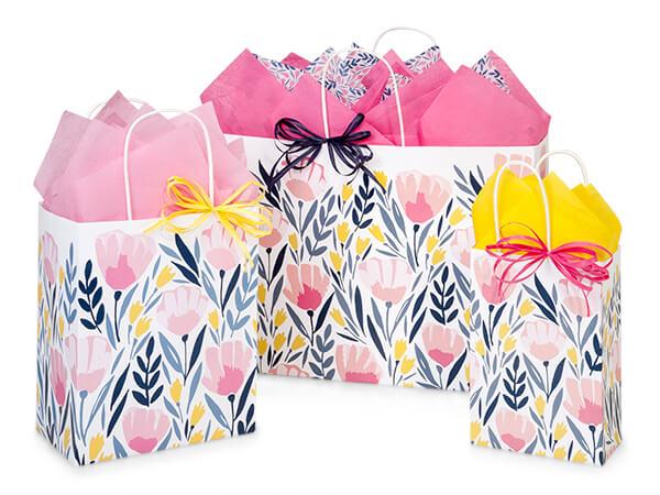 Pink Petals Shopping Bags