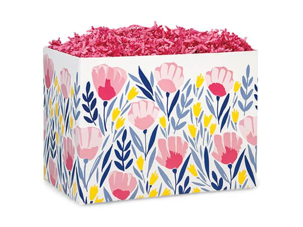 "Pink Petals Basket Box, Small 6.75x4x5"", 6 Pack"