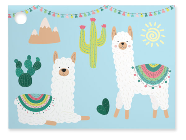 Party Llama Theme Gift Cards 3.75x2.75, 6 Pack
