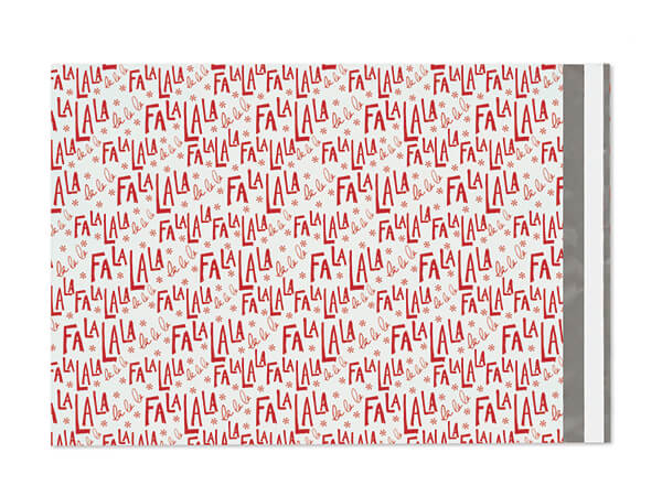 "10 x 13"" FaLaLa Poly Peel and Seal Envelopes, 100 Pack"