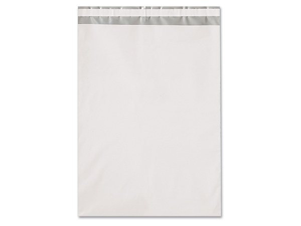 "10 x 13"" White Poly Peel and Seal Envelopes, 100 Pack"