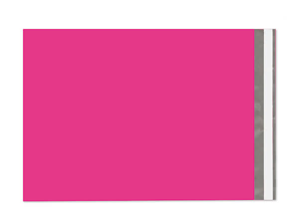 """10 x 13"""" Hot Pink Poly Peel and Seal Envelopes, 100 Pack"""