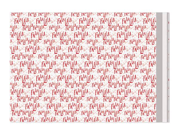 "12 x 15-1/2"" FaLaLa Poly Peel and Seal Envelopes, 100 Pack"