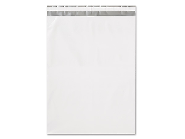"12 x 15-1/2"" White Poly Peel and Seal Envelopes, 100 Pack"