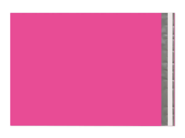 """12 x 15-1/2"""" Hot Pink Poly Peel and Seal Envelopes, 100 Pack"""