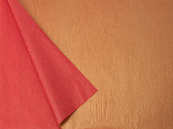 2-Sided Metallic Gold and Red Tissue Paper
