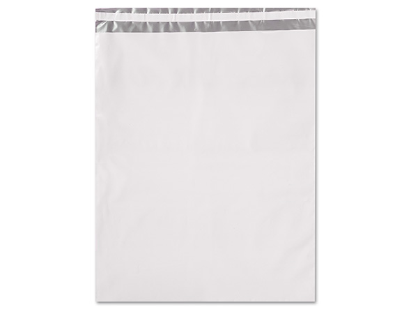 "14 x 17"" White Poly Peel and Seal Envelopes, 100 Pack"