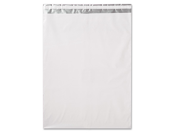"14-1/2 x 19"" White Poly Peel and Seal Envelopes, 100 Pack"