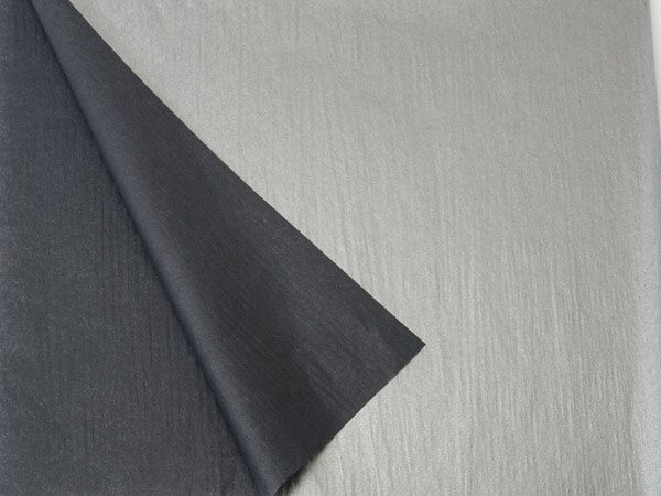 "Black & Metallic Silver Tissue, 20x30"", Bulk 100 Sheet Pack"