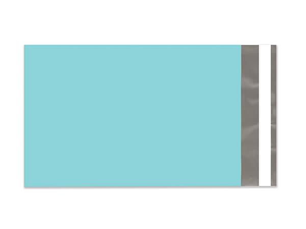"6 x 9"" Aqua Poly Peel and Seal Envelopes, 100 Pack"
