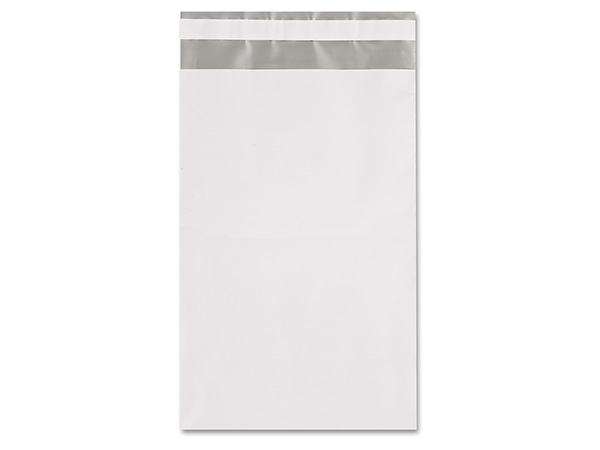 """6 x 9"""" White Poly Peel and Seal Envelopes, 100 Pack"""