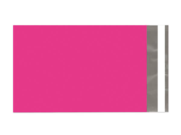 """6 x 9"""" Hot Pink Poly Peel and Seal Envelopes, 100 Pack"""