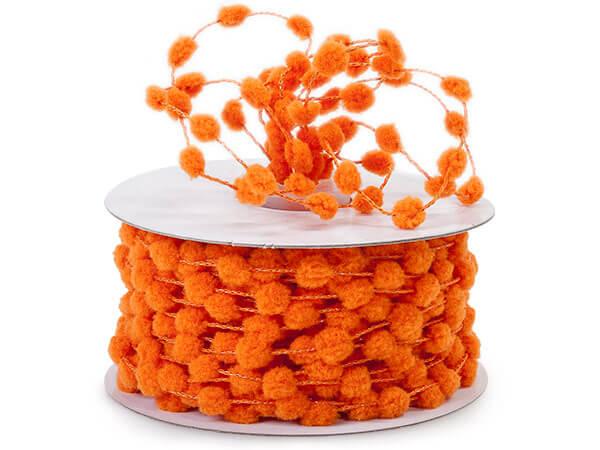 Orange Pom Pom Ribbon
