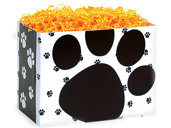 Large Pooch's Paws Basket Boxes 10-1/4x6x7-1/2""